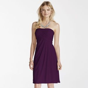 David's Bridal F1048 Plum Dress Bridesmaid 0